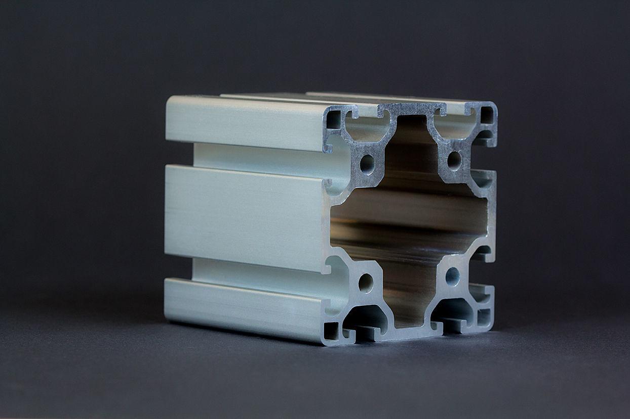 1 m alu profil aluprofile 80x80l nut 8 item kompatibel aluminiumprofil baurei ebay. Black Bedroom Furniture Sets. Home Design Ideas