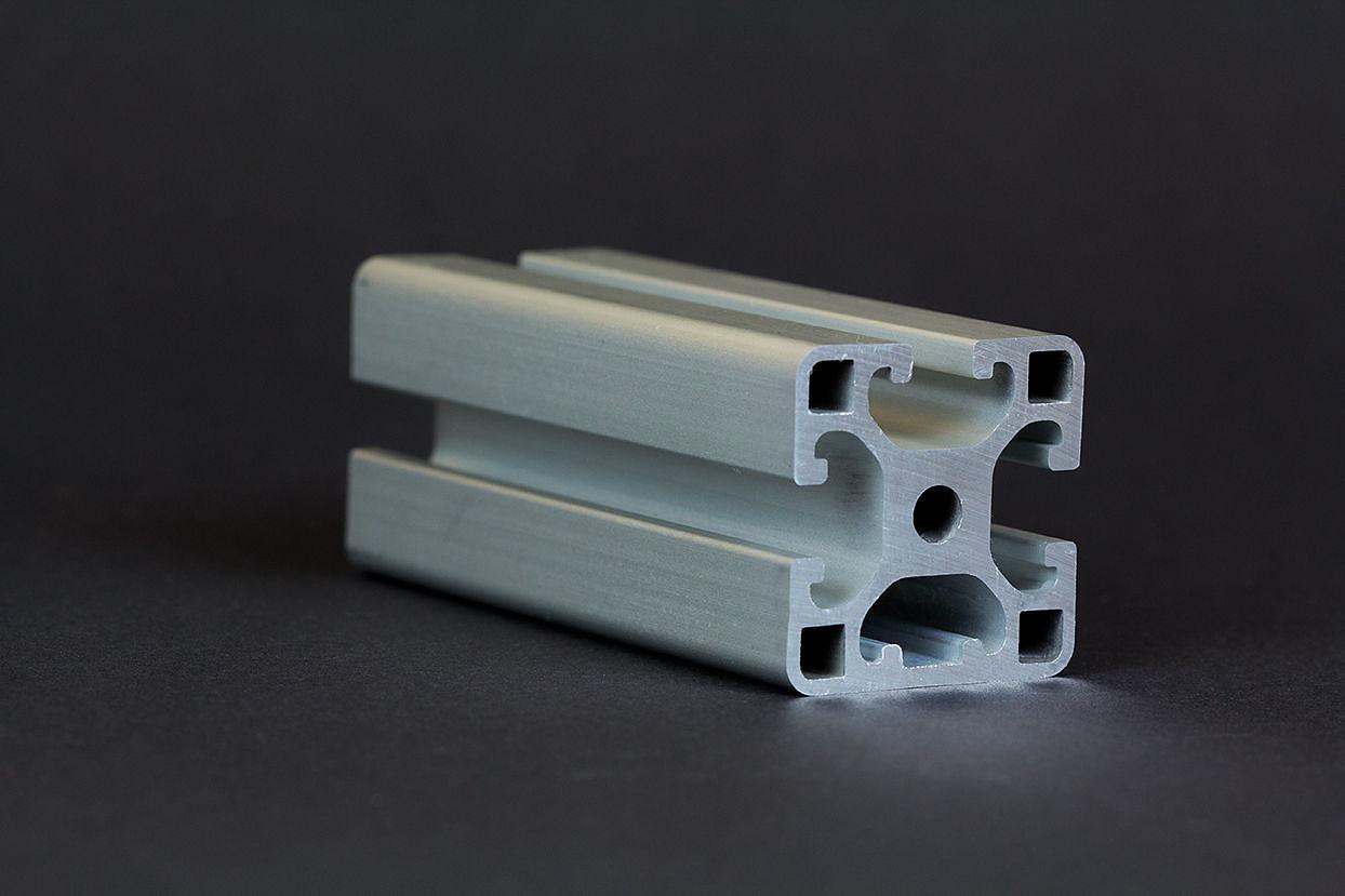 1 m alu profil aluprofile 40x40l 1n nut 8 item kompatibel aluminiumprofil bau ebay. Black Bedroom Furniture Sets. Home Design Ideas