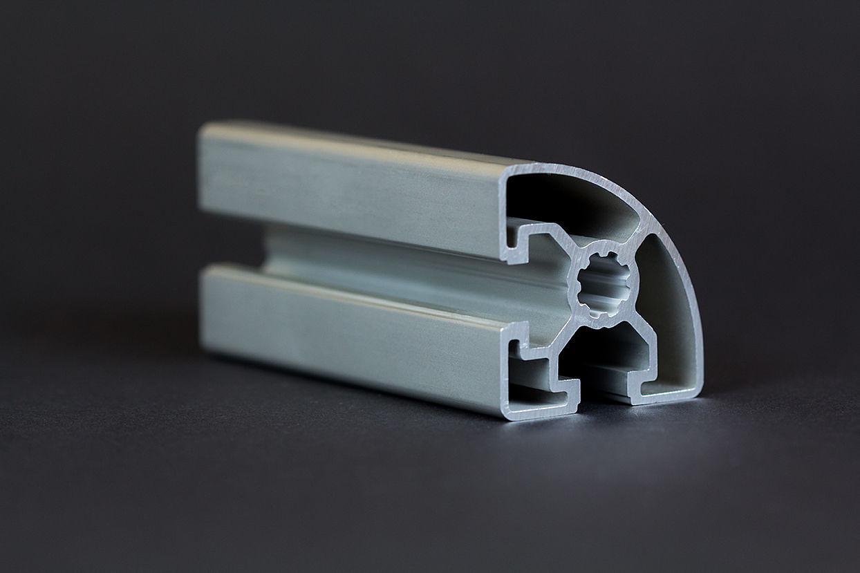 1 m alu profil aluprofile 45x45l r nut 10 bosch kompatibel aluminiumprofil ba ebay. Black Bedroom Furniture Sets. Home Design Ideas